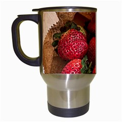 Strawberries Fruit Food Delicious Travel Mugs (white) by Nexatart