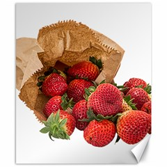 Strawberries Fruit Food Delicious Canvas 8  X 10  by Nexatart