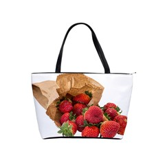 Strawberries Fruit Food Delicious Shoulder Handbags by Nexatart
