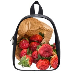 Strawberries Fruit Food Delicious School Bags (small)