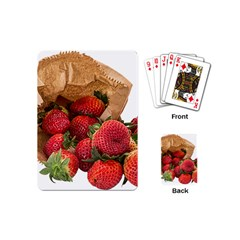 Strawberries Fruit Food Delicious Playing Cards (mini)  by Nexatart