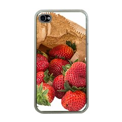 Strawberries Fruit Food Delicious Apple Iphone 4 Case (clear) by Nexatart