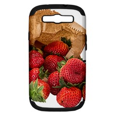 Strawberries Fruit Food Delicious Samsung Galaxy S Iii Hardshell Case (pc+silicone) by Nexatart