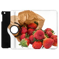 Strawberries Fruit Food Delicious Apple Ipad Mini Flip 360 Case by Nexatart