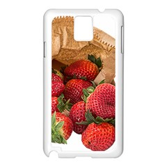 Strawberries Fruit Food Delicious Samsung Galaxy Note 3 N9005 Case (white) by Nexatart