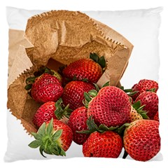 Strawberries Fruit Food Delicious Large Flano Cushion Case (two Sides) by Nexatart