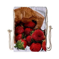 Strawberries Fruit Food Delicious Drawstring Bag (small) by Nexatart