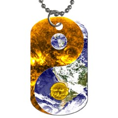 Design Yin Yang Balance Sun Earth Dog Tag (two Sides)