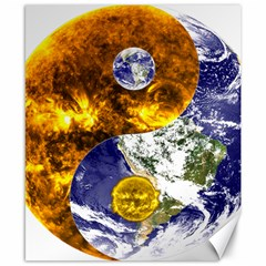 Design Yin Yang Balance Sun Earth Canvas 8  X 10  by Nexatart