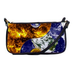 Design Yin Yang Balance Sun Earth Shoulder Clutch Bags by Nexatart