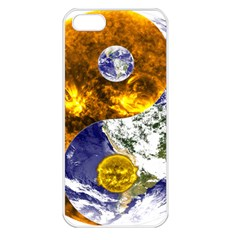 Design Yin Yang Balance Sun Earth Apple Iphone 5 Seamless Case (white) by Nexatart