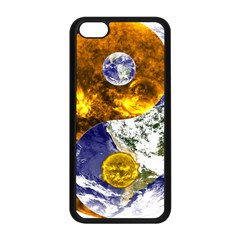 Design Yin Yang Balance Sun Earth Apple Iphone 5c Seamless Case (black) by Nexatart