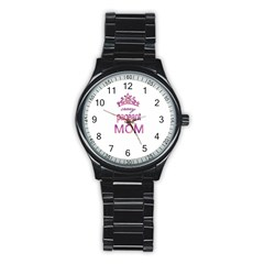 Crazy Pageant Mom Stainless Steel Round Watch
