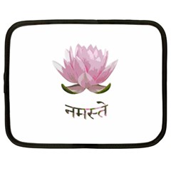 Namaste   Lotus Netbook Case (xl)  by Valentinaart