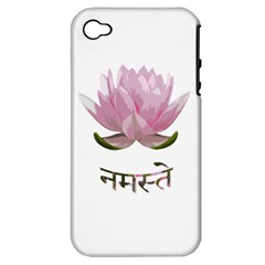 Namaste   Lotus Apple Iphone 4/4s Hardshell Case (pc+silicone)