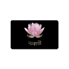 Namaste   Lotus Magnet (name Card) by Valentinaart