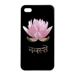 Namaste   Lotus Apple Iphone 4/4s Seamless Case (black) by Valentinaart
