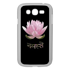 Namaste   Lotus Samsung Galaxy Grand Duos I9082 Case (white) by Valentinaart