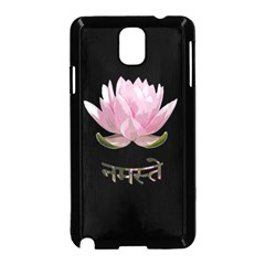Namaste   Lotus Samsung Galaxy Note 3 Neo Hardshell Case (black)