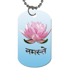 Namaste   Lotus Dog Tag (one Side) by Valentinaart