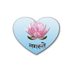 Namaste   Lotus Rubber Coaster (heart)  by Valentinaart