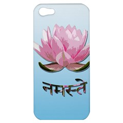 Namaste   Lotus Apple Iphone 5 Hardshell Case