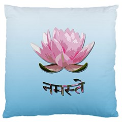 Namaste   Lotus Large Flano Cushion Case (two Sides)