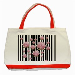 Namaste   Lotus Classic Tote Bag (red) by Valentinaart