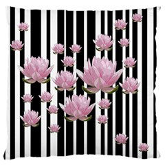Namaste   Lotus Large Flano Cushion Case (one Side) by Valentinaart