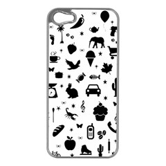 Rebus Apple Iphone 5 Case (silver) by Valentinaart