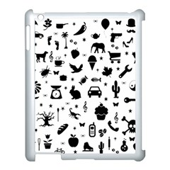 Rebus Apple Ipad 3/4 Case (white) by Valentinaart
