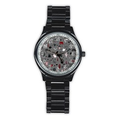 Rebus Stainless Steel Round Watch