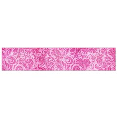 Pink Romantic Flower Pattern Denim Flano Scarf (small) by Ivana