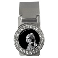 The Girl With The Pearl Earring Money Clips (cz)  by Valentinaart