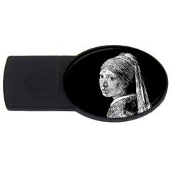 The Girl With The Pearl Earring Usb Flash Drive Oval (2 Gb) by Valentinaart