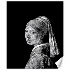 The Girl With The Pearl Earring Canvas 8  X 10