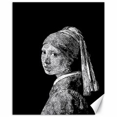 The Girl With The Pearl Earring Canvas 16  X 20