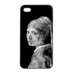 The Girl With The Pearl Earring Apple Iphone 4/4s Seamless Case (black)