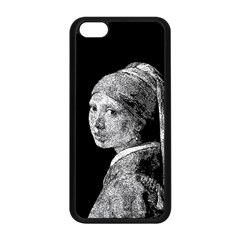 The Girl With The Pearl Earring Apple Iphone 5c Seamless Case (black)