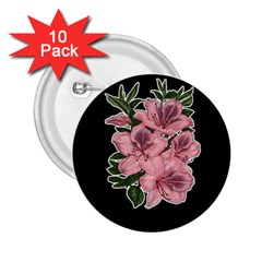Orchid 2 25  Buttons (10 Pack)  by Valentinaart