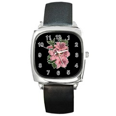 Orchid Square Metal Watch by Valentinaart