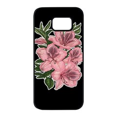 Orchid Samsung Galaxy S7 Edge Black Seamless Case by Valentinaart
