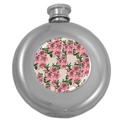 Orchid Round Hip Flask (5 Oz) by Valentinaart