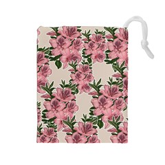 Orchid Drawstring Pouches (large)  by Valentinaart
