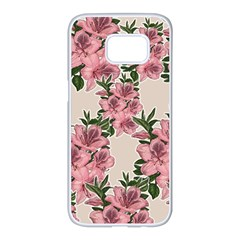 Orchid Samsung Galaxy S7 Edge White Seamless Case