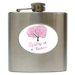 Spring Blossom  Hip Flask (6 Oz) by Valentinaart