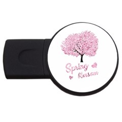Spring Blossom  Usb Flash Drive Round (2 Gb)