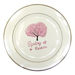 Spring Blossom  Porcelain Plates by Valentinaart