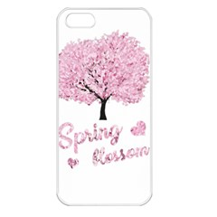 Spring Blossom  Apple Iphone 5 Seamless Case (white) by Valentinaart