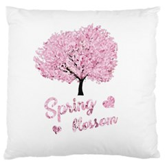 Spring Blossom  Large Flano Cushion Case (one Side)